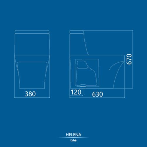 نقشه توالت فرنگی هلنا