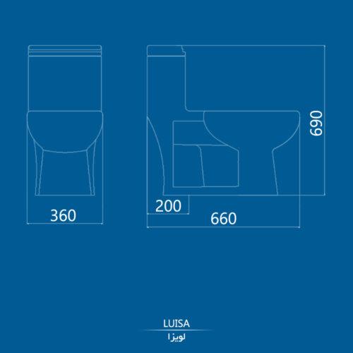 نقشه توالت فرنگی لویزا