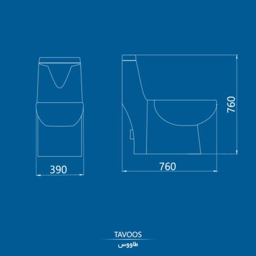 نقشه توالت فرنگی طاووس