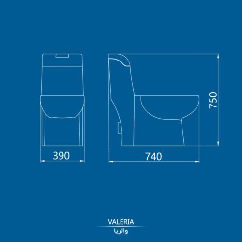 نقشه توالت فرنگی والریا